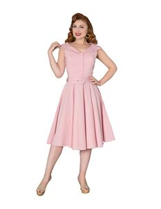 Sheen Freda 40s 50s Light Baby Pink Sleevless Tea Dress