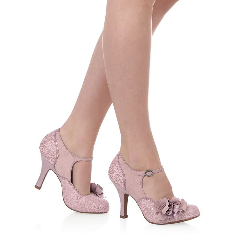 Pink Heels For Wedding: Ruby Shoo Emily Party Wedding Shoes Dusky Pink