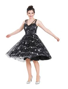 Hell Bunny Cosmic Love Glitter Star Tulle Party Dress