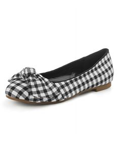 Collectif Naomi Black And White Gingham Flat Shoes