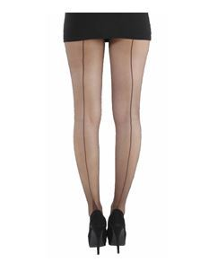 Pamela Mann Jive Seamed Chocolate/Black Tights