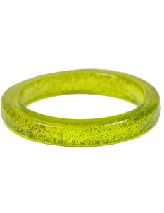 Splendette Chartreuse Glitter Bangle