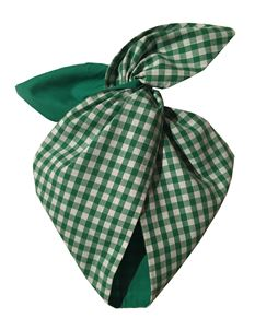 Be Bop A Hairband Green Gingham Wired Hairband