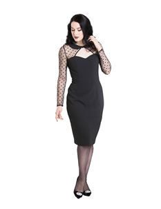 Hell Bunny Hollywood Party Cocktail 50s Pencil Dress
