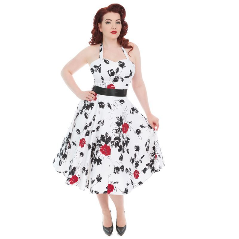 Hearts & Roses Divine Rosa White Floral Dress