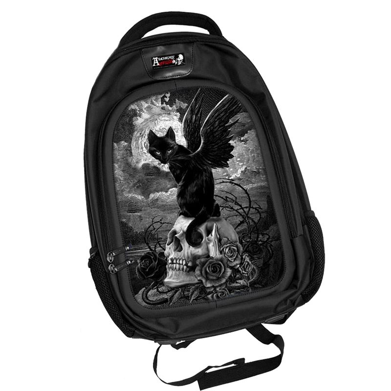 Alchemy 3D Nine Lives of Poe Cat Alternative Backpack