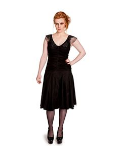 Hell Bunny Patricia Black 50s Style Evening Dress