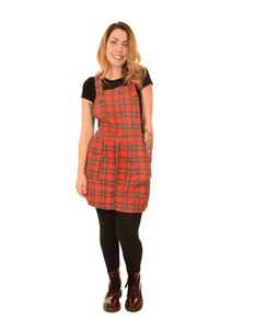 Run & Fly Tartan Pinafore Dress