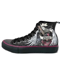 Spiral Direct Rock Angel High Top Laceup Sneakers