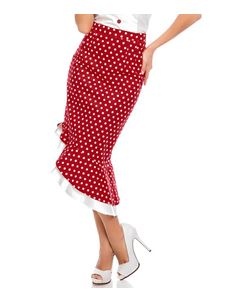 Dolly And Dotty Red Polka Dot Madison Ruffle Skirt