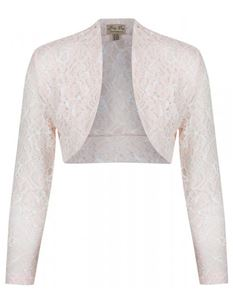 Lindy Bop Peach Delicate Floral Lace Cover Up Shrug