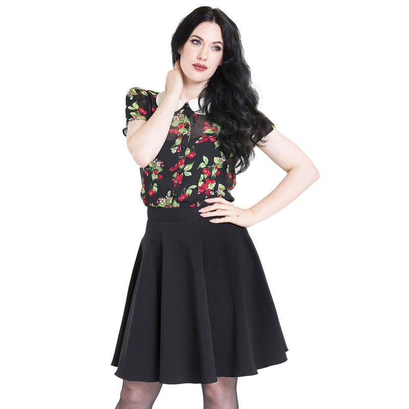 Hell Bunny Gabby Black Mini Skater Skirt