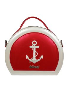 Collectif 50s Style Red Sailor Anchor Nautical Ahoy Vanity Hand Bag