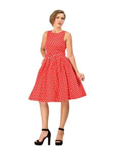 Dolly & Dotty Lola Polka Dot Sailor Dress In Red