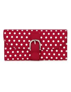Ruby Shoo Como Polka Dot Red Spots Purse