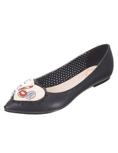 Dancing Days Blair Black Flat Shoes
