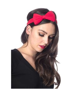 Banned Retro Dionne Bow Headband 50s Polka Hairband