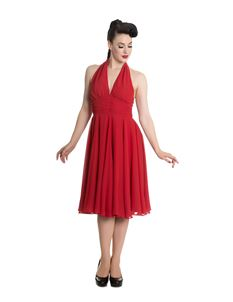 Hell Bunny - Monroe 50s Red Evening Cocktail Dress