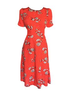 Trollied Dolly Chic & Simple Dress - Red Dotty Daisy