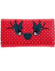 Banned Now Or Never Swallow Rockabilly Polka Dot Wallet