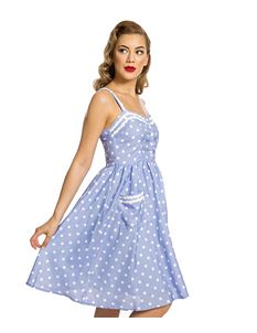 79260cddb2d6 Lindy Bop Corinna Lilac Polka Dot 50s Summer Dress