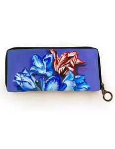 Woody Ellen Porcelain Tulip Floral Card Wallet Purse