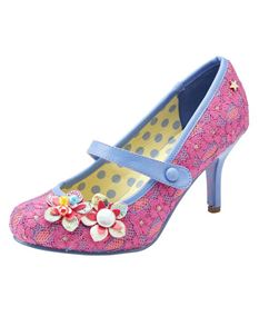 Joe Browns Malia Pink Floral Shoe