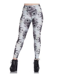 Spin Doctor After Death Skull Alternative Goth Leggings