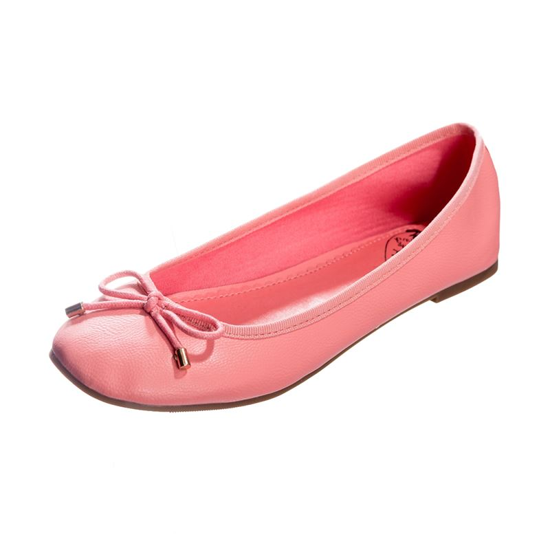 Dancing Days Dandelion Ballerina Pink Pump Flat Shoes