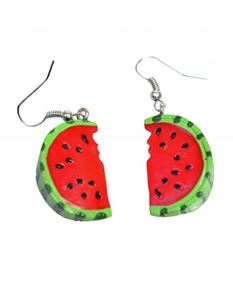 Collectif Vintage Style Watermelon Slice Drop Earrings