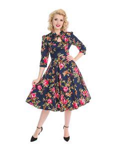 Hearts & Roses Autumn Afternoon Floral Dress