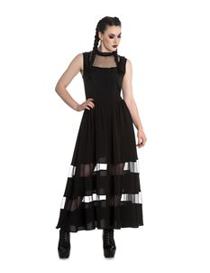 Spin Doctor Bellatrix Maxi Long Alternative Gothic Dress Black