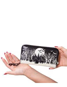 Banned Woodland Bat Black Cat Alternative Wallet Purse