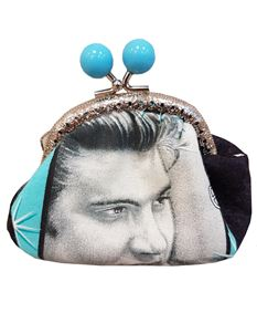 Hand Made Elvis Presley Kiss Lock Coin Purse