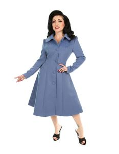 Hearts & Roses 50's Esme Light blue Vintage Swing Coat