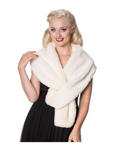 Dancing Days Narnia Faux Fur Shrug In Ivory/White