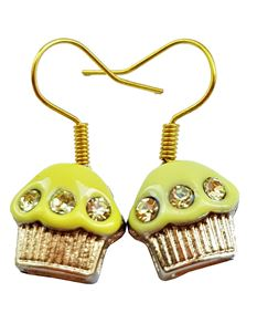 Shazazz Jewellery Yellow Cup Cake Earrings