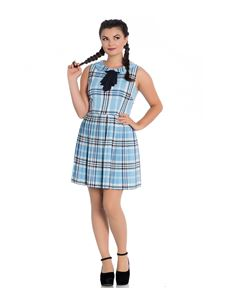 Hell Bunny Aberdeen Tartan Check Mini Dress