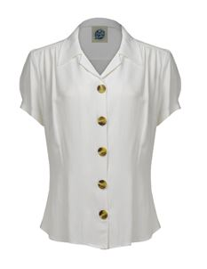 Pretty Retro 40s Style Ivory Blouse