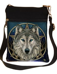 Nemesis Now Wild One Wolf Shoulder Bag By Lisa Parker
