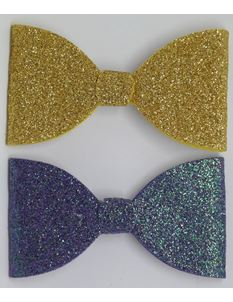Said Lucy Glitter Bows Gold And Purple