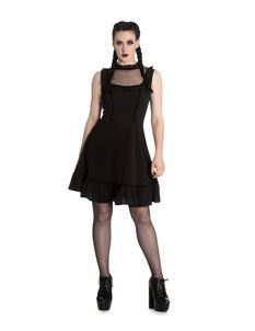 Spin Doctor Bellatrix Mini Short Alternative Gothic Dress Black