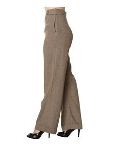 Banned 40s Lady Luck Brown Herringbone Swing Trousers