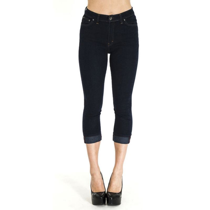 Run & Fly 50s Rockabilly Swallow Indigo Denim Capris