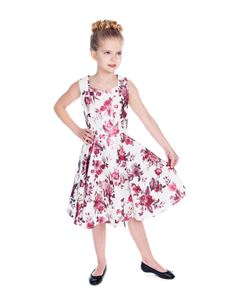 Hearts And Roses Girls Aphrodite Metallic Swing Dress