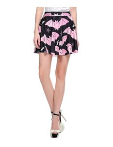 Poisoned Pink Bat Digital Print Mini Skirt