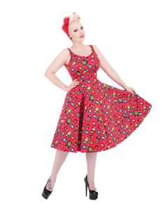 Hearts & Roses 1950's Eliza Spicy Swing Dress