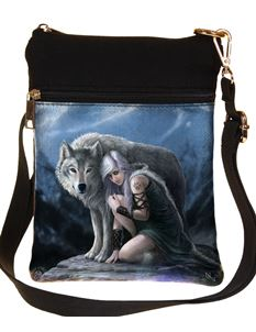 Nemesis Now Protector Wolf Shoulder Bag By Anne Stokes