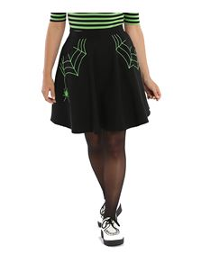 Hell Bunny Miss Muffet Spider Web Mini Skirt