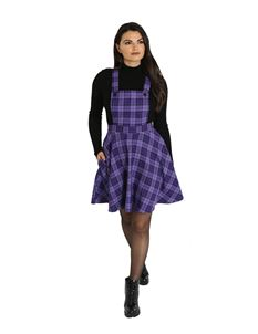 Hell Bunny Karine Tartan Check Mini Pinafore Dress